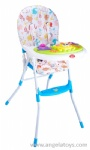 Baby Floded Dining Chair with fabric cover - purple and blue 2 colors
