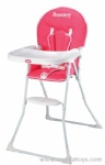 Baby Floded Dining Chair with fabric cover - pinks and green 2 colors