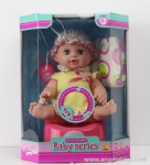 12' Peeing 12 sounds Doll with feeder, diaper, and potty