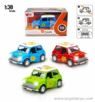 1:38 Mini Die Cast Car with open door, light and music