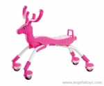 Free Wheel Deer Baby Walker -Yellow and Pink 2 colors