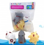 3 Pcs Dog Bath Toys with Sray Water
