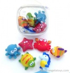 6 Pcs Sea Animals Bath Toys with Sray Water