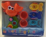 Bath Toys - Leaking Crab, 2pcs Cups, and 3pcs Leaking Fishes - 3 modes ASST