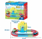 Cartoon Battery-operated Track Car with light and music - 1 pcs B/O car