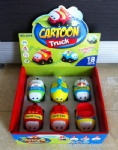 Cartoon Battery-operated Car - 6 pcs
