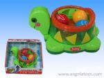 Battery-operated Ball Turtle with light and music