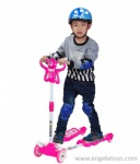 Butterfly Scooter with Light and Music-green, blue and pink 3 colors
