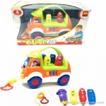 B/O Educational Stationery Car with light and music