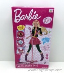 Barbie Microphone with light and music