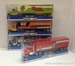Die-cast Construction / Farm / Police / Fire-fighting Container Truck - 4 models ASST